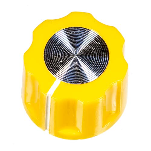 Small Mirror Knob, Yellow