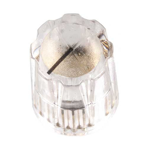 Small Pointer Knob, Clear