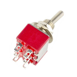 DPDT ON-ON Toggle Switch, Solder Lugs