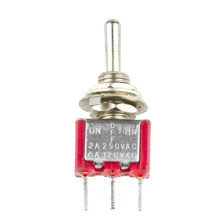 SPDT ON-OFF-ON Toggle Switch, Solder Lugs