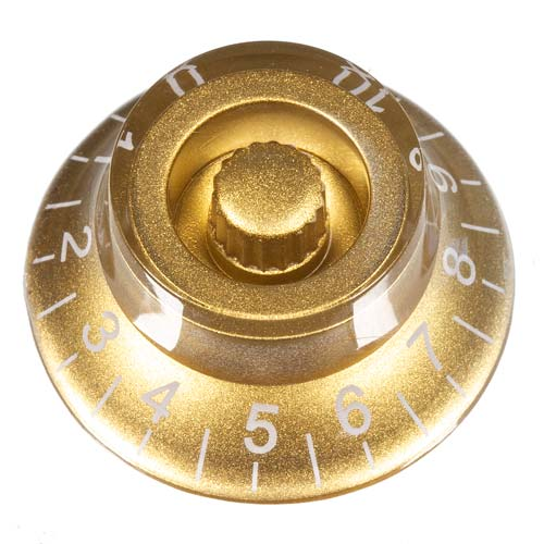 Top Hat Guitar Knob, Gold