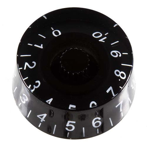 Image of Transparent Black Guitar Knob