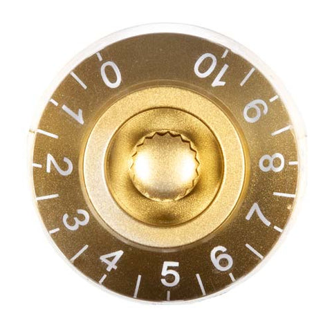 Transparent Gold Guitar Knob