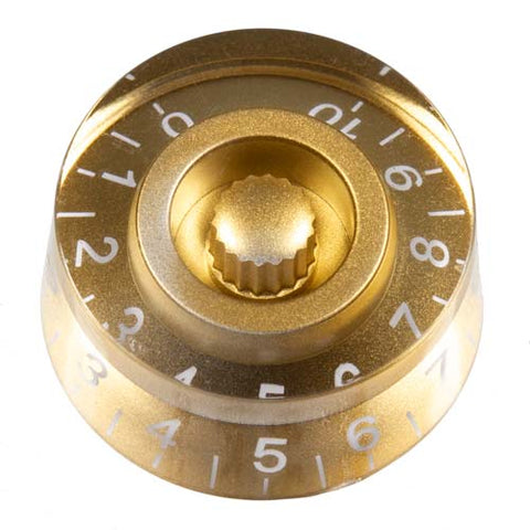 Image of Transparent Gold Guitar Knob