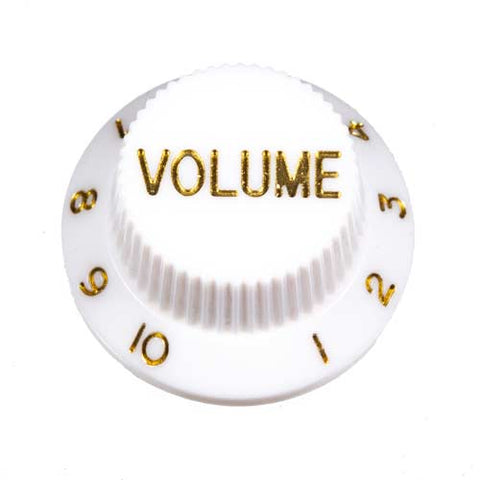 Guitar Volume Knob, White