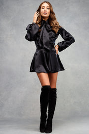Macy Playsuit Midnight Black