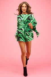 Pippa Playsuit Midnight Palms