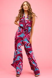 Pinky Palms Star Super Flared Trouser