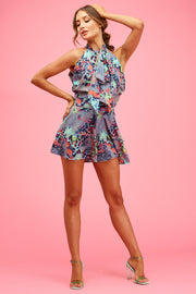 Leopard Sunset Lorrie Playsuit
