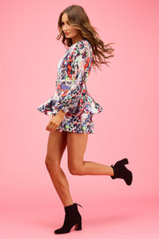 Jodie Playsuit Leopard Sunrise