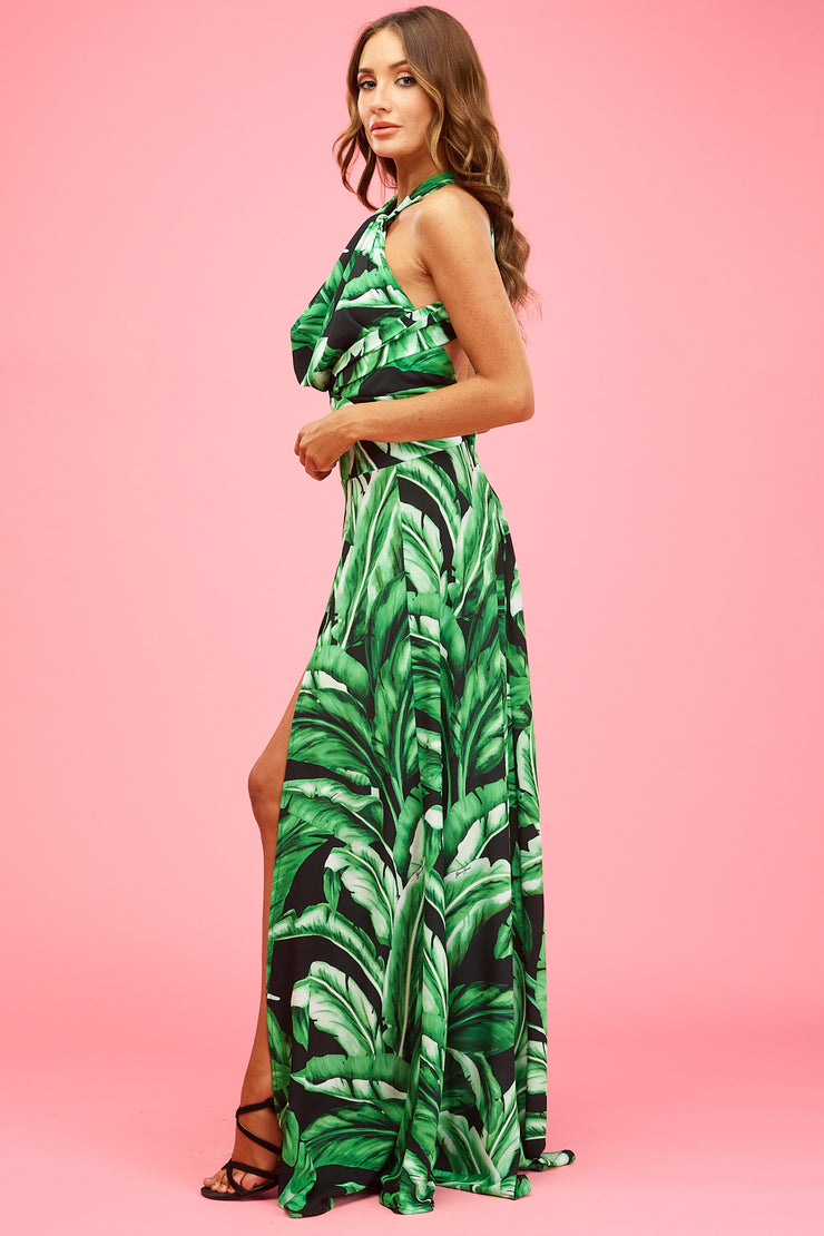 Florence Maxi Midnight Palms