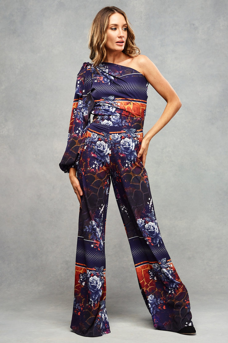 Angel Wide Leg Trouser Indigo Safari