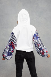 Ice White Love on Tattooed Wings Hoodie