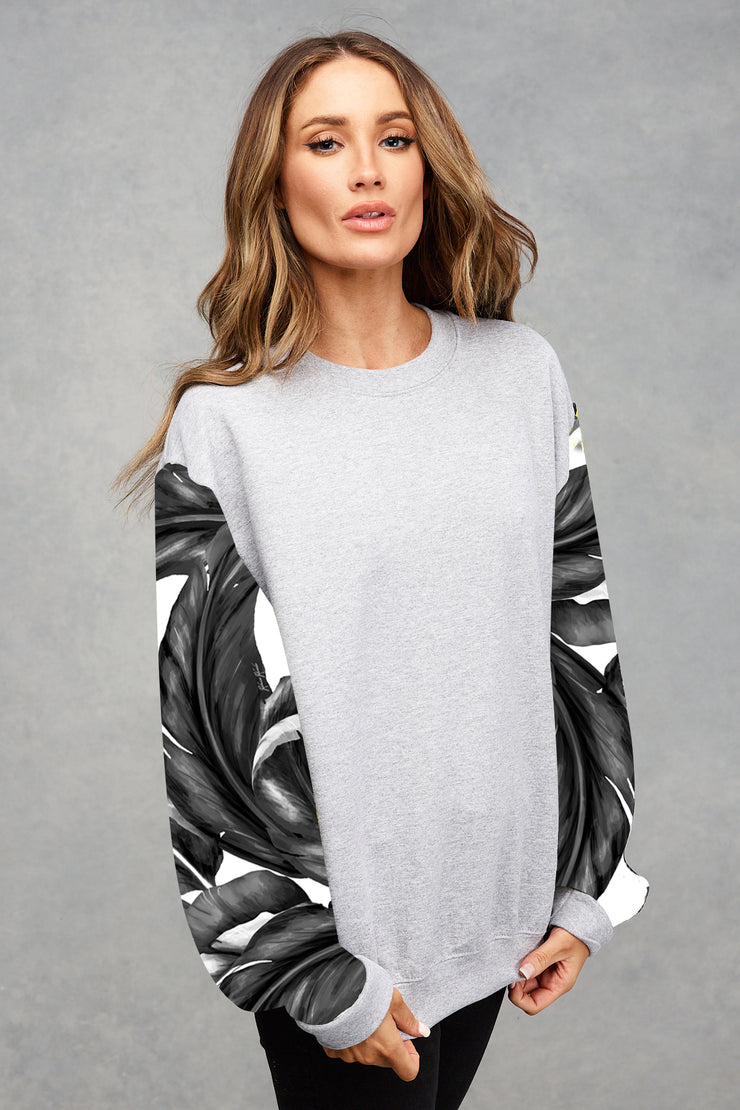 Grey Marl Monochrome Palm Sweatshirt