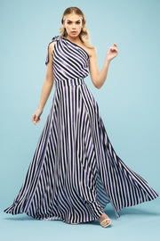 Aubrey One shoulder Maxi Candy Blues