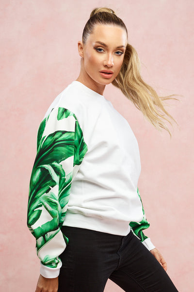 Ice White Palm Sweatshirt
