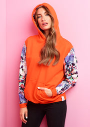 Orange, Leopard Sunrise Hoodie