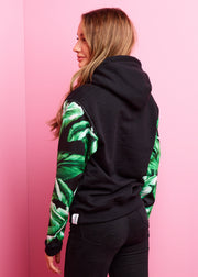 Black, Midnight Palm Hoodie