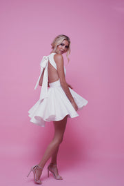 Audrey Mini Dress Ice white