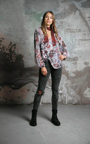 Brandy Blouse Platinum Jungle