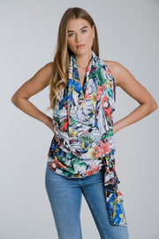 Lucy Drape Top Ruby Rainforest