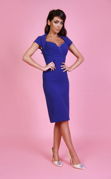 Olivia Midi Dress Cobalt Blue