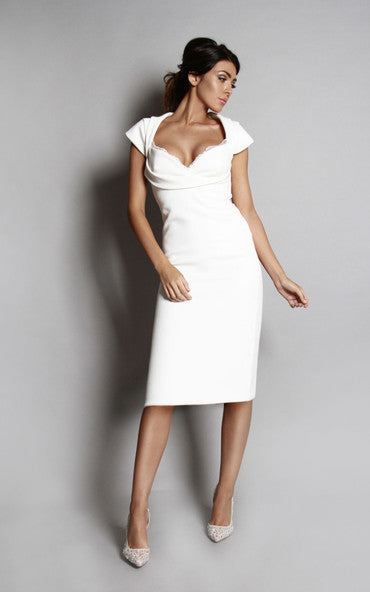 Olivia Midi Dress Ice White