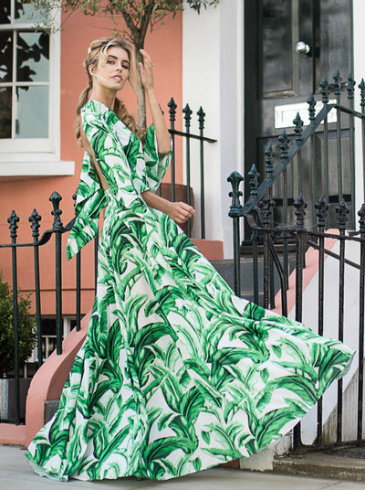 Esme Maxi Dress Palm Perfection