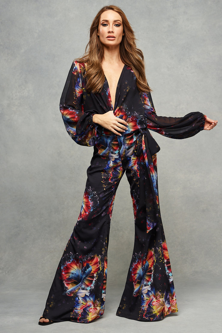 Tasha Trouser Suit Midnight Oceans