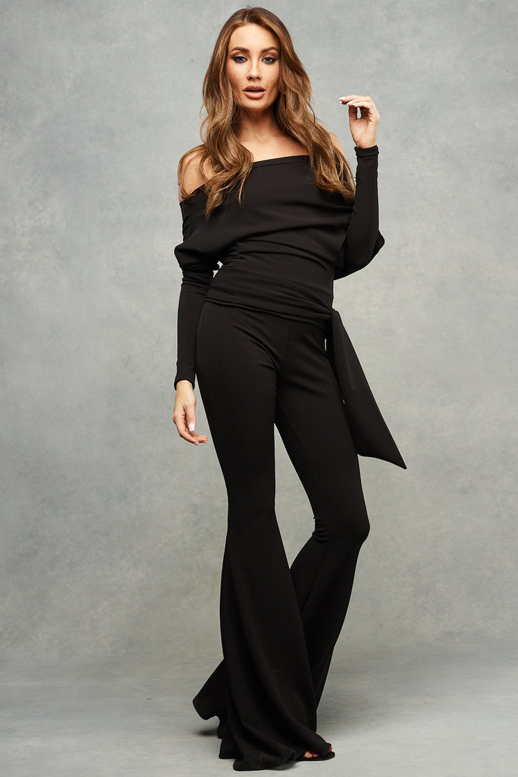 Arianna Slouch Top Midnight Black