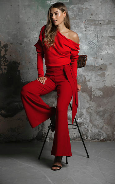 Vogue Jumpsuit Ruby Red