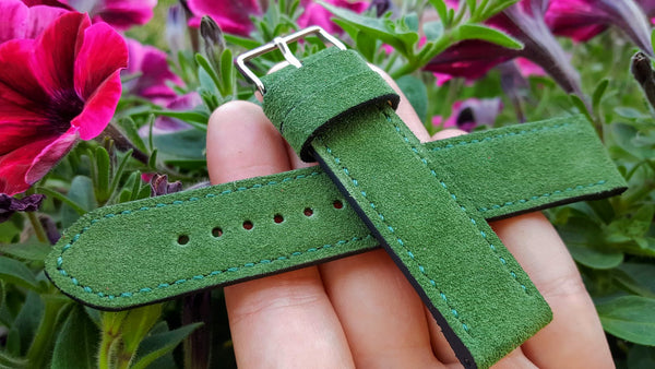 Italian Suede - Bottle Green 20 mm