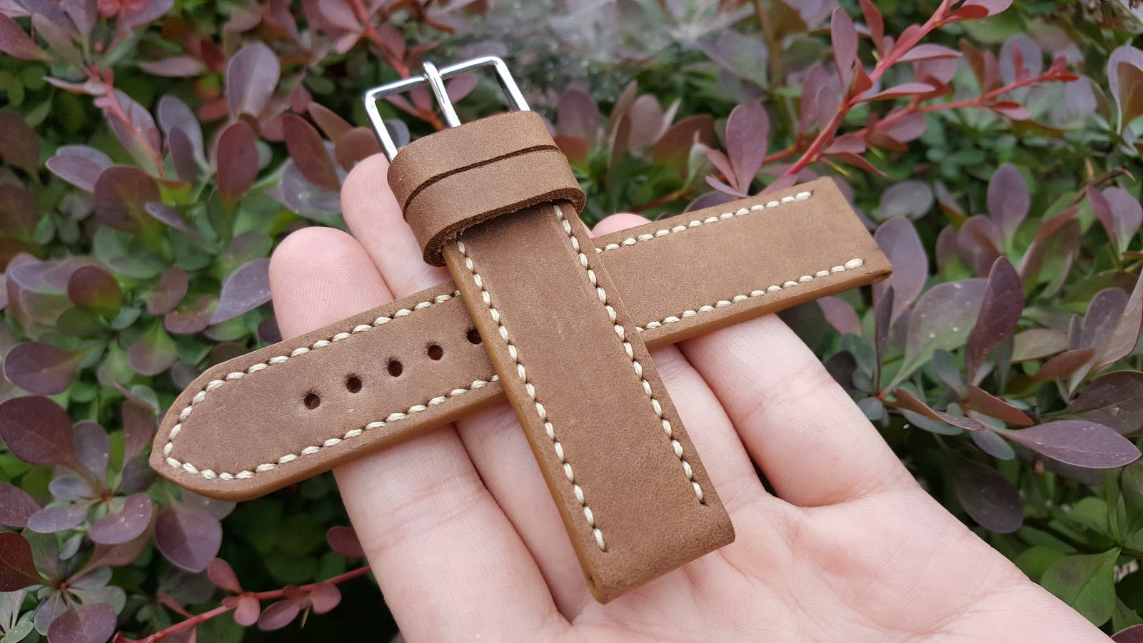Light Brown Bovine Leather 20 mm