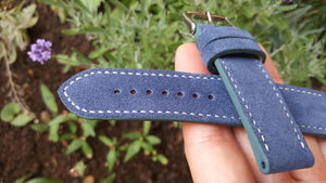 Italian Suede - Smoke Blue 22 mm