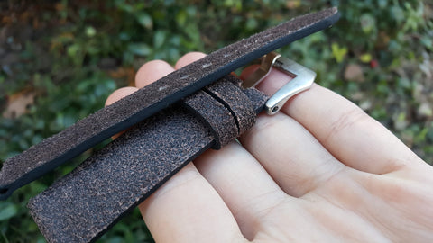 Brown vintage bovine watch strap 20 mm
