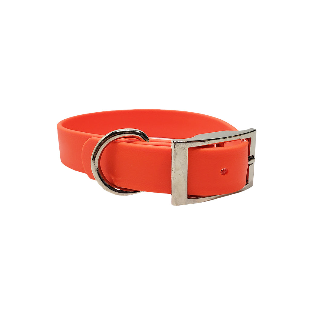 Leather Feel 1 Inch D-Ring Dog Collar
