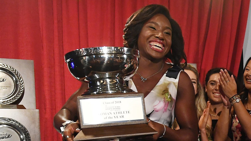Olympic Swimmer Simone Manuel Wins Collegiate Woman Athlete Of The Year