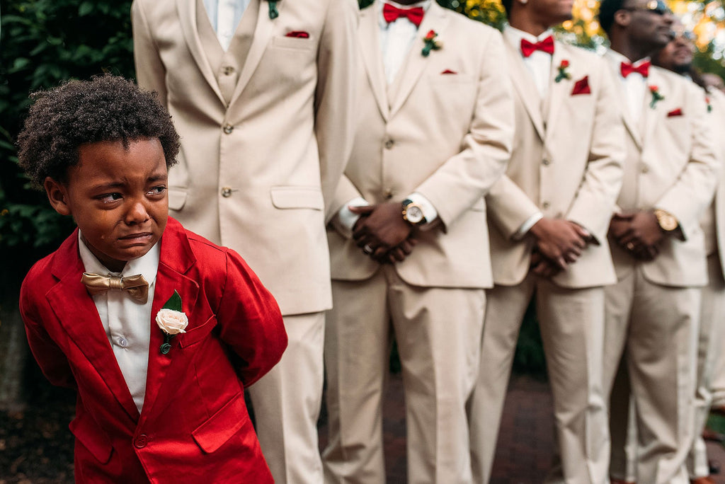 All The Feels: 6-Year-Old Overcome With Emotion Watching His Mother Walk Down The Aisle