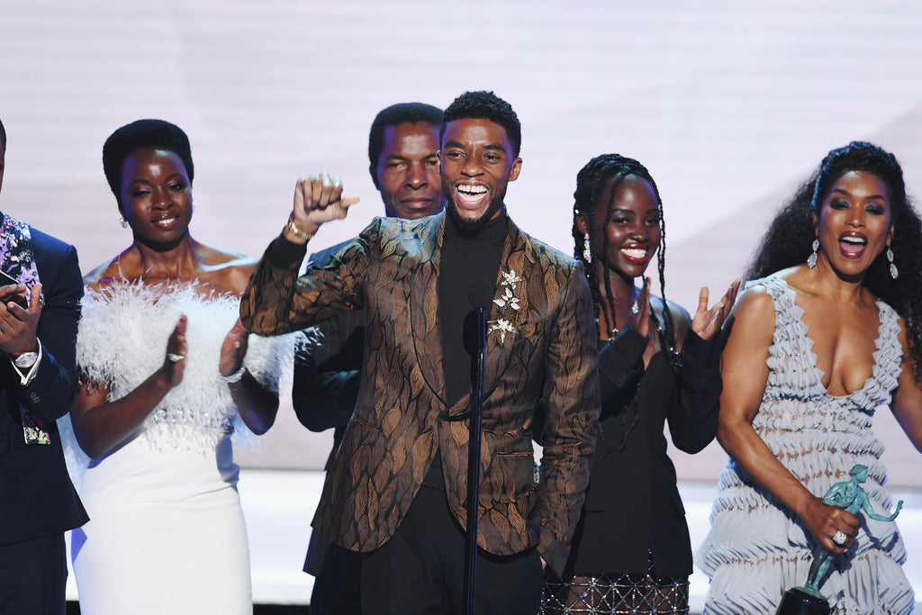 The King of Wakanda Moves Everyone With His Speech After 'Black Panther' Wins Big at the SAG Awards