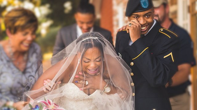 Mom Gets the Surprise of a Lifetime When Military Son Shows Up on her Wedding Day
