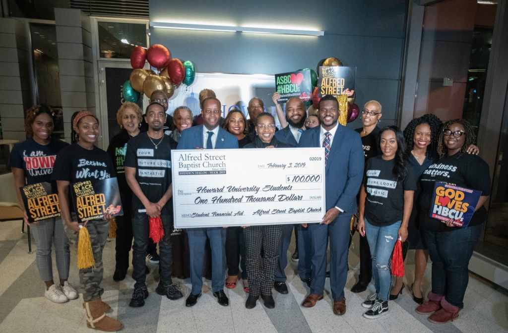 Historic Alfred Street Baptist Church Gifts Howard University with $100,000 to Help Students with Debt Graduate