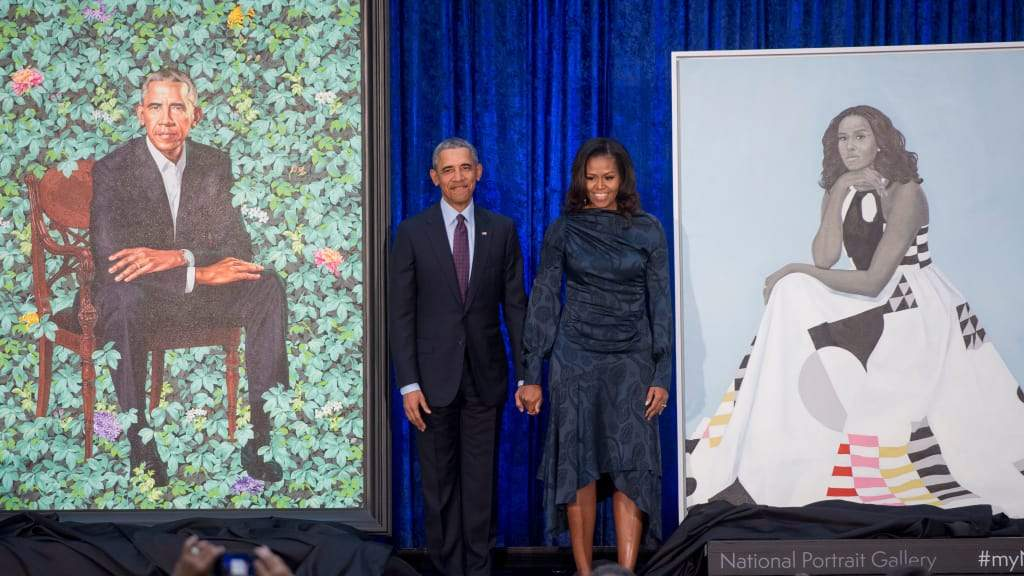Pure Black Excellence: Barack And Michelle Obama's Official Portraits Unveiled