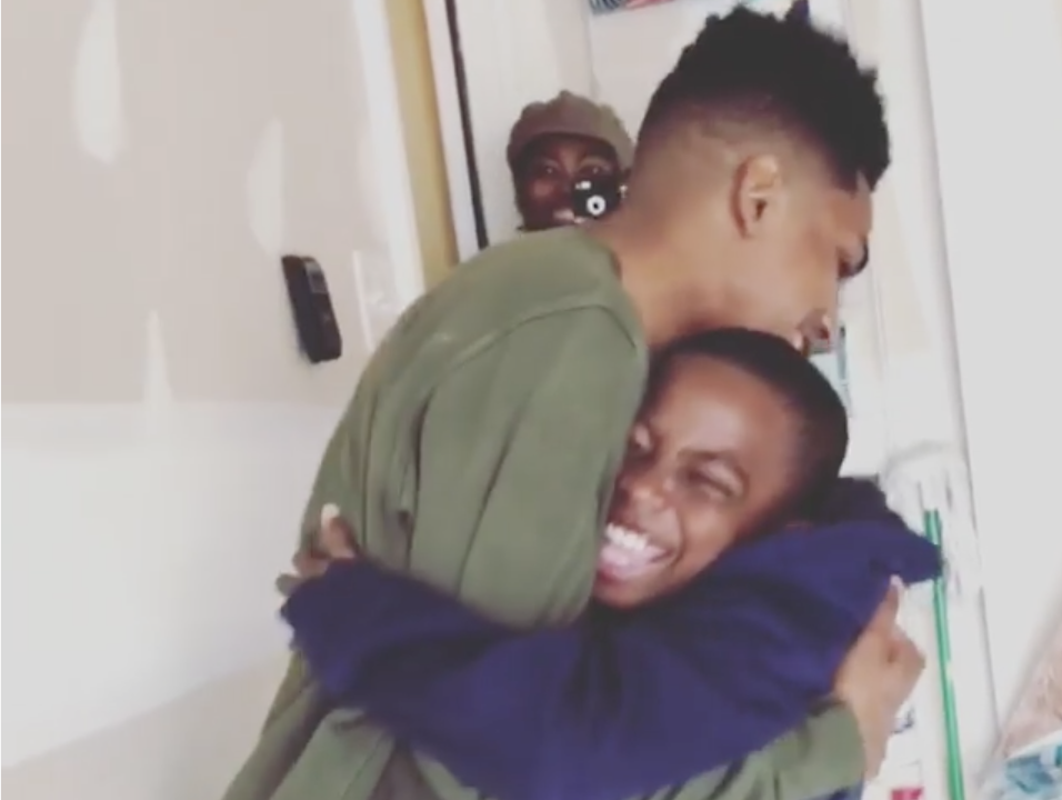 Black Boy Joy: Watch Little Boy's Priceless Reaction To His Big Brother's Surprise Visit