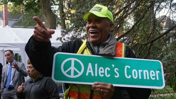Over 100 People, Including Past Students, Surprise Crossing Guard On 80th Birthday