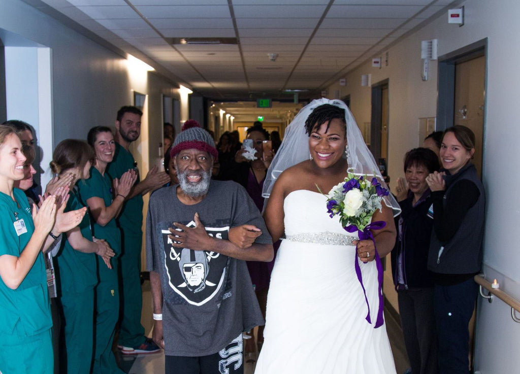 All The Feels: Daughter Moves Wedding To Hospital So Her Terminally Ill Father Can Walk Her Down The Aisle