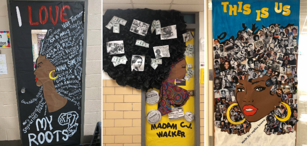 These Teachers Already Won Black History Month With These Door Decorations