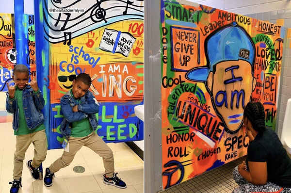 This Artist Is Turning School Bathrooms Into A Place Of Peace And Empowerment