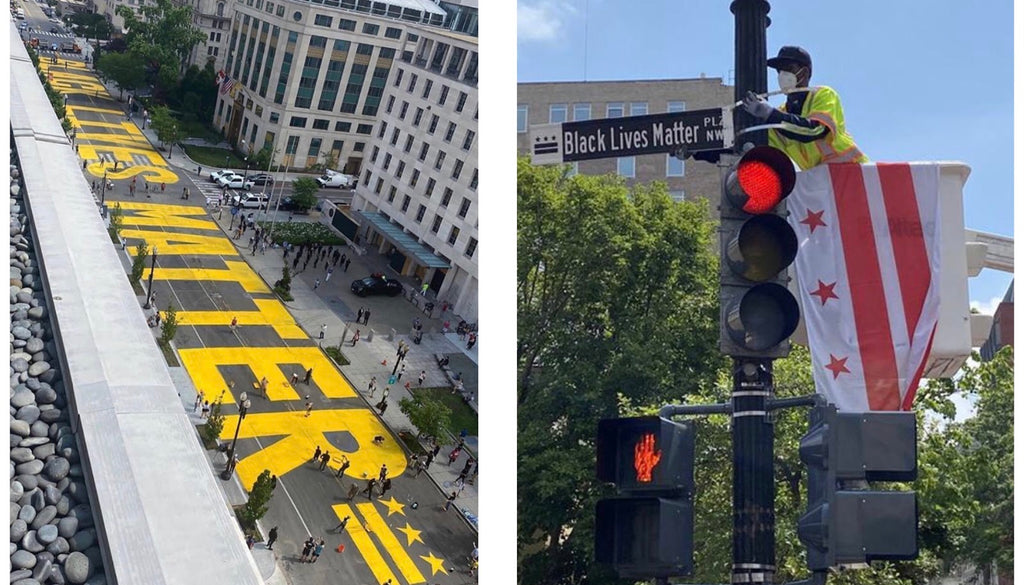 "Mayor of Washington, D.C. Paints ""Black Lives Matter"" On The Road Leading To The White House"