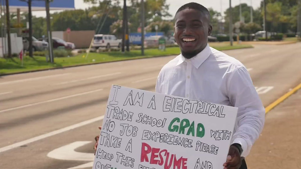Can't Knock The Hustle: Recent Grad Passes Out Résumés At Intersection And Lands Dream Job