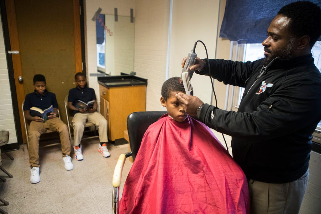 Principal Creates Barbershop In School To Connect With Students By Cutting Their Hair